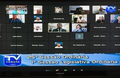 Sessão ordinária teve formato virtual