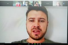 Vereador Jessé Sangalli (Cidadania) conduziu a reunião pela plataforma Zoom