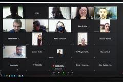 Reunião virtual foi realizada pela plataforma Zoom