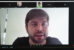 Vereador Felipe Camozzato (Novo) presidiu a reunião