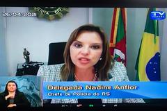 Delegada Nadine Anflor foi a primeira mulher a ocupar o cargo de chefe de Polícia no Estado