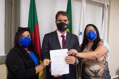 Bins Ely recebeu representantes do Fórum na tarde desta segunda-feira