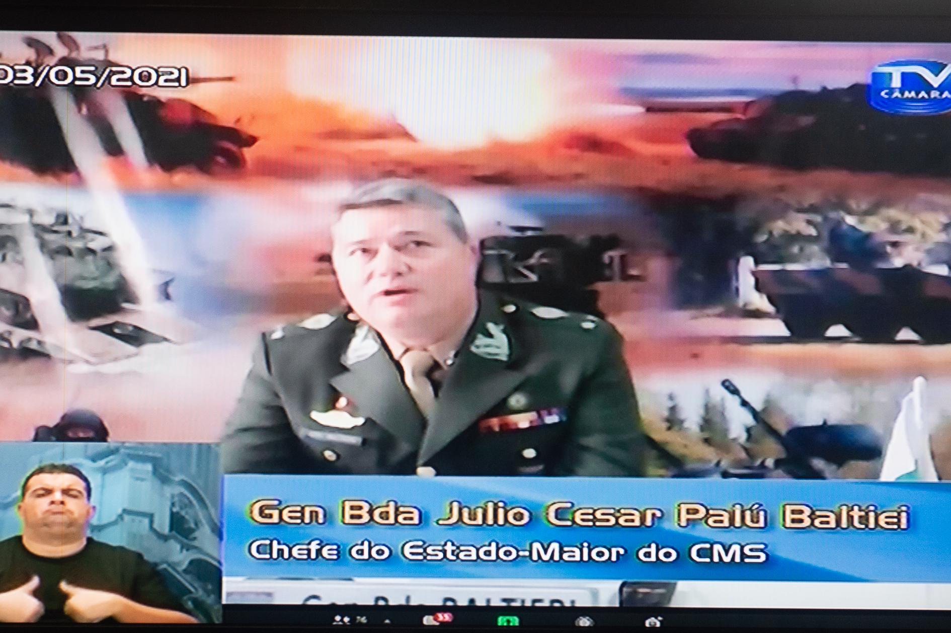 General Júlio Cear Baltiei agradeceu homenagem e lembrou Batalha de Guararapes