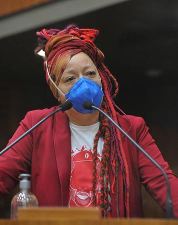 Sessão Ordinária - Retrato vereadora Daiana Santos. (Foto: Jeannifer Machado/CMPA)