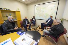 Presidente Márcio Bins Ely visita o Secretário Luiz Fernando Záchia para falar sobre empreendimentos na cidade