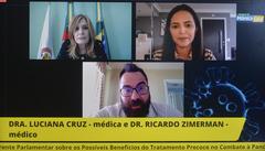 Lançamento da Frente Parlamentar sobre os possíveis benefícios do tratamento precoce no combate à pandemia de Coronavírus, presidido pela vereadora Mônica Leal.