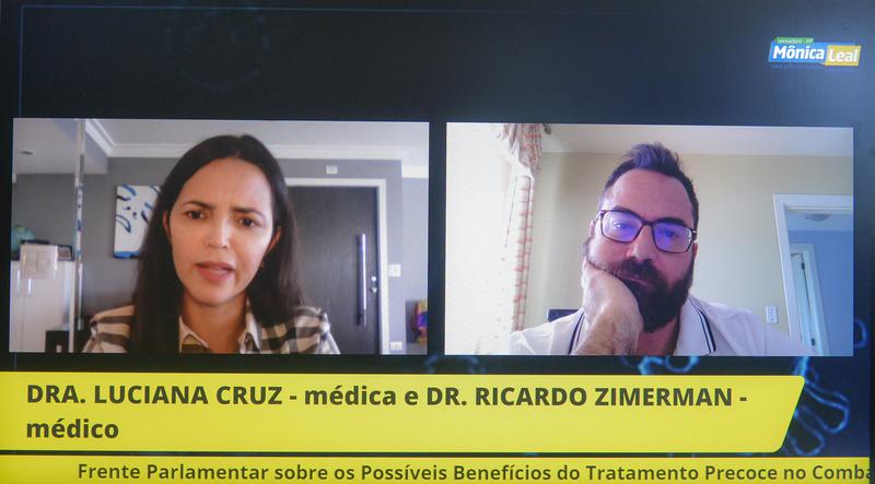 Frente Parlamentar - Lançamento da Frente Parlamentar sobre os possíveis benefícios do tratamento precoce no combate à pandemia de Coronavírus, presidido pela vereadora Mônica Leal. (Foto: Martha Izabel/CMPA)