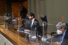 Reunião conjunta foi conduzida pelo vereador Felipe Camozzato (Novo), presidente da CCJ