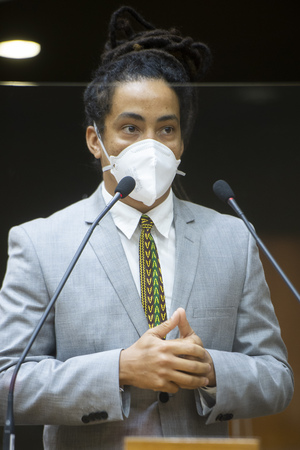 Sessão Ordinária - Retrato. Vereador Matheus Gomes. (Foto: Jeannifer Machado/CMPA)