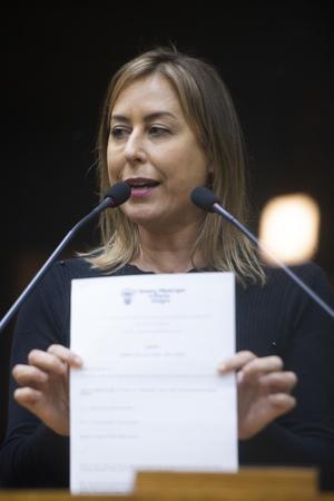 Sessão Ordinária - Retrato. Vereadora Fernanda Barth. (Foto: Jeannifer Machado/CMPA)