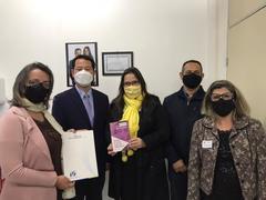 Psicóloga Vereadora Tanise Sabino recebe Marcos Kim da Coréia do Sul