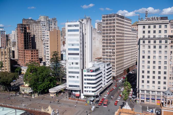 Centro de Porto Alegre. Prédios. Cidade. Urbano. IPTU.