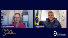 Vereador Ramiro e a coordenadora do Grupo Jurídico da entidade, Ana Cláudia Redecker
