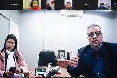 Diretora de Gestão de Pessoal, Elisa dos Reis e secretário Barbosa