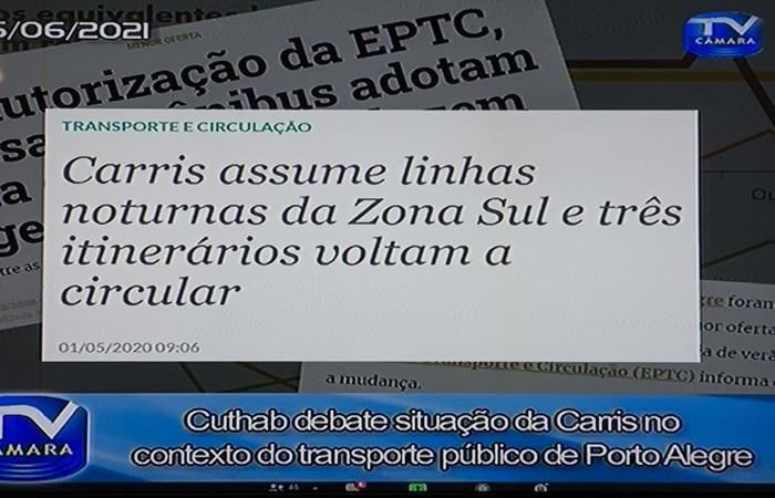 CUTHAB - Cuthab debate situação da Carris no transporte de Porto Alegre. (Foto: Jeannifer Machado/CMPA)