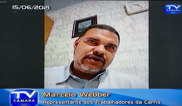 CUTHAB - Cuthab debate situação da Carris no transporte de Porto Alegre. Com a fala Marcelo Webber, representante dos trabalhadores da Carris. (Foto: Jeannifer Machado/CMPA)