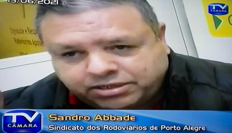 CUTHAB - Cuthab debate situação da Carris no transporte de Porto Alegre. Com a fala o representante do Sindicato dos Rodoviários Sandro Abbade. (Foto: Jeannifer Machado/CMPA)