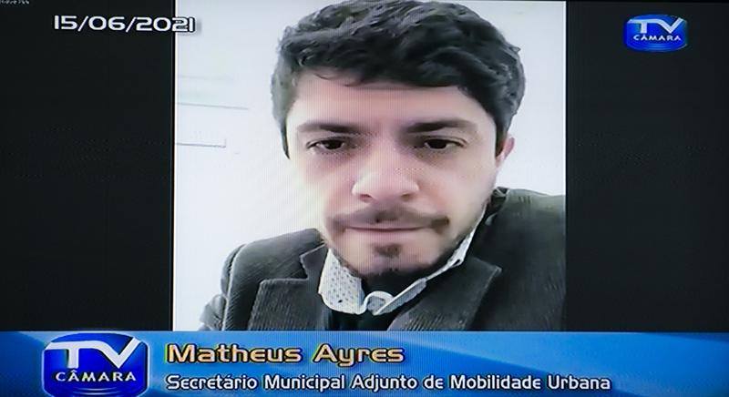 CUTHAB - Cuthab debate situação da Carris no transporte de Porto Alegre. Com a fala o secretário adjunto de mobilidade urbana Matheus Ayres. (Foto: Jeannifer Machado/CMPA)