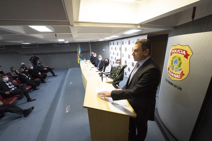 Presidência - Presidente Márcio Bins Ely compareceà posse do novo Superintendente da Polícia Federal no Rio Grande do Sul, Aldronei Antônio Pacheco Rodrigues . (Foto: Elson Sempé Pedroso/CMPA)