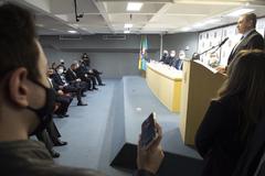 Presidente Márcio Bins Ely compareceà posse do novo Superintendente da Polícia Federal no Rio Grande do Sul, Aldronei Antônio Pacheco Rodrigues .