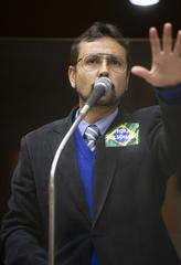 Sessão Ordinária híbrida. Na foto, vereador Jonas Reis.