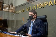 Vereador presidente Márcio Bins Ely