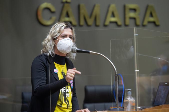 Sessão ordinária - Posse da vereadora suplente Natasha Ferreira. (Foto: Ederson Nunes/CMPA)