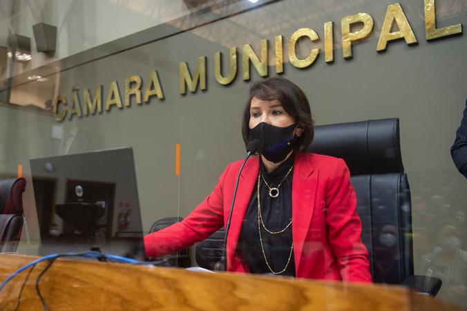 Sessão Ordinária - Vereadora Comandante Nádia na presidência (Foto: Ederson Nunes/CMPA)