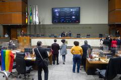 Plenário durante a sessão