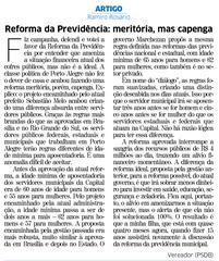 Artigo foi publicado na edição desta quarta-feira, 14 de julho, do jornal Correio do Povo