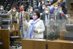 Sessão Híbrida. Movimentação de plenário.