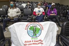 Representantes do MAB se fizeram presentes na audiência pública