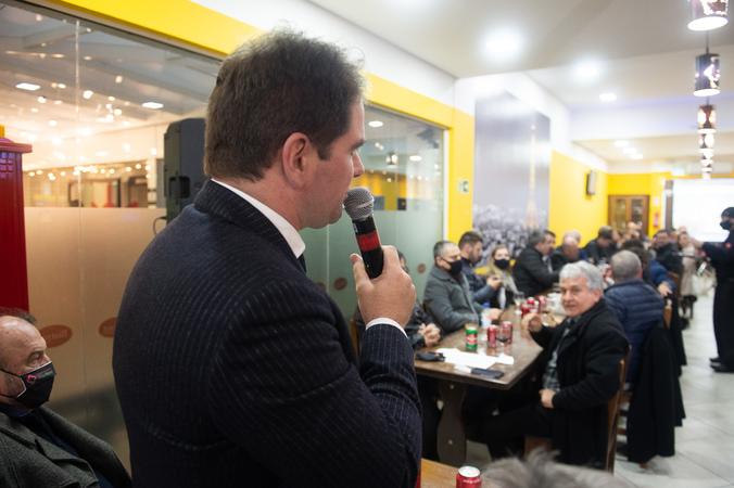 Presidência - Presidente Márcio Bins Ely participa de reunião do prefeito e vereadores com empresários da Zona Sul da cidade. (Foto: Ederson Nunes/CMPA)