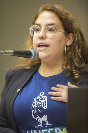 Retrato - Retrato vereadora Vitória Cabreira. (Foto: Elson Sempé Pedroso/CMPA)