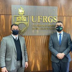 Vereador Bobadra protocolou projeto para conceder o Título Honorífico de Cidadão de Porto Alegre ao Reitor da UFRGS, Carlos André Bulhões Mendes