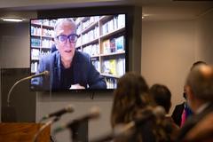 Sessão Solene em homenagem à Legalidade. EM participação à distância, o jornalista e escritor Juremir