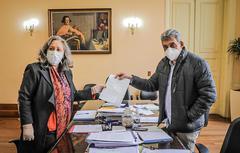 Vereadora Lourdes Sprenger em agenda com Prefeito Sebastião Melo