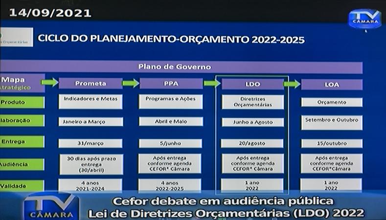 Audiência Pública para tratar sobre a LDO 2022.