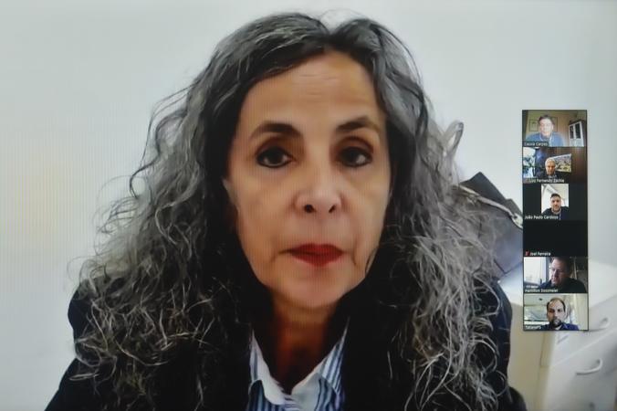CUTHAB - Reunião para apresentação do Plano de Segurança Viária Sustentável. Na foto, a Diretora-Geral da SMMU, sra. Maria Cristina Ladeira. (Foto: Martha Izabel/CMPA)
