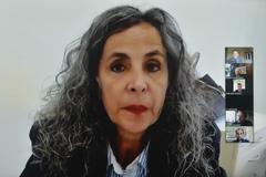 Reunião para apresentação do Plano de Segurança Viária Sustentável. Na foto, a Diretora-Geral da SMMU, sra. Maria Cristina Ladeira.