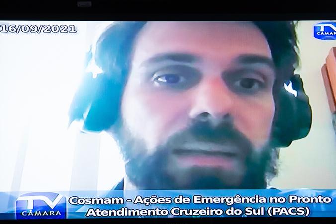 Cosmam - Ações de Emergência no Pronto Atendimento Cruzeiro do Sul (PACS). Na foto, Daniel Lenz Farias Correa, coordenador de urgências da SMS (Foto: Ederson Nunes/CMPA)