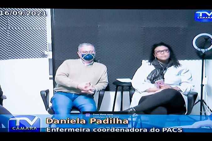 Cosmam - Ações de Emergência no Pronto Atendimento Cruzeiro do Sul (PACS). Na foto, Firmo Krebs Neto, coordenador do Pacs e Daniela Padilha, enfermeira coordenadora do Pacs (Foto: Ederson Nunes/CMPA)