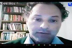 Audiência Pública debate projeto do Executivo que altera normas de finanças municipais. Na foto, secretário municipal da Transparência, Gustavo Ferenci