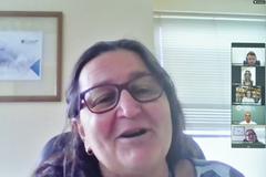 Reunião para abordar sobre ações de incentivo ao Setembro Verde. Na foto, a Presidente do Coren-RS, senhora Rosangela Gomes Schneider.
