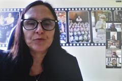 Reunião para abordar sobre ações de incentivo ao Setembro Verde. Na foto, a Vice-Presidente da comisssão, vereadora Cláudia Araújo.