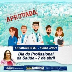 Dia do Profissional da Saúde é incluído no Calendário de Datas Comemorativas de Porto Alegre
