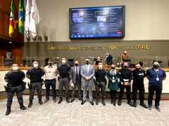 Homenagem da Câmara de Vereadores de Porto Alegre a toda a Polícia Penal do Rio Grande do Sul na figura do Grupo de Ações Especiais de Intervenção Prisional (GAES)