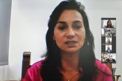 Secretária Janaina Audino apresentou cenários propostos para educação infantil e ensino fundamental