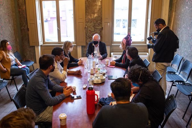 Cece - Cece faz visita à Secretaria Municipal de Cultura. Vereadoras Fernanda Barth e Daiana Santos se reúnem com o secretário Gunter Axt. (Foto: Ederson Nunes/CMPA)