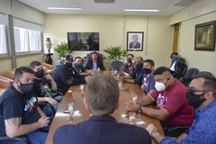 Reunião com o presidente da Câmara sobre a CPI que o vereador Jonas Reis (PT) protocolou.